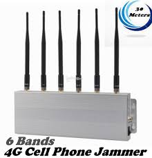 6 Bands 4G Cell Phone Jammer signal shielding & anti Jammer 30 Meters