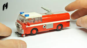 How To Build The Lego Firetruck (MOC) - YouTube