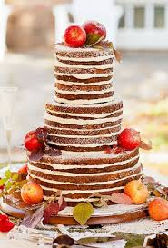 Apple Picking Rustic Wedding Cake