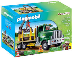 Amazon.com: PLAYMOBIL Timber Truck: Toys & Games