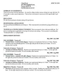 Best Example Of Resume Format College Student Examples Template No