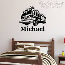 Personalized Fire Truck Wall Decal Sticker Décor Kid's Room ... Fire Truck Wall Decals Home Design Ideas Elephant Art Elegant Decor Inspirational Sweet Jo Designs Frankies Firetruck Decal Stickers Set Of 4 Amazoncom Firetrucks And Refighters Giant Stickers Removable Peel Stick Vinyl Firefighter Engines Children Room Firemen Sticker Interior Etsy Truck Wall Sticker Kids Decor Decals 7 Decorating Growth Chart Gallery Detail Feedback Questions About Cartoon