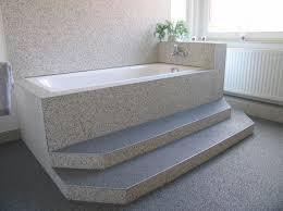 fugenloser steinteppich boden im badezimmer badezimmer