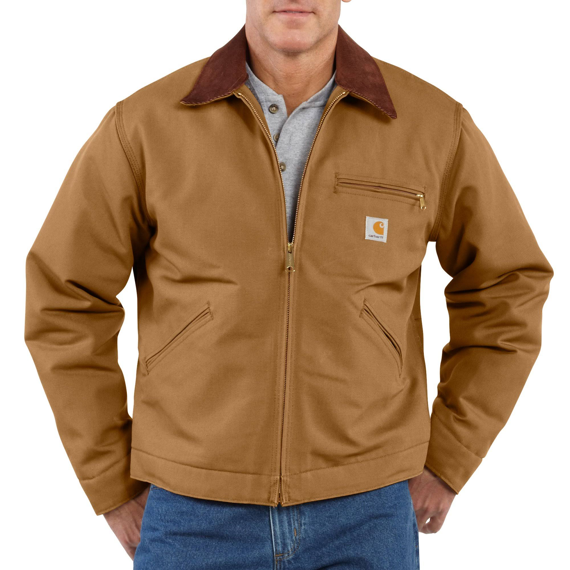 Carhartt Duck Detroit Jacket, Men's Carhartt Brown