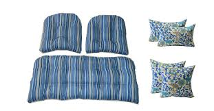 Wicker Cushions And Pillows 7 Pc Set