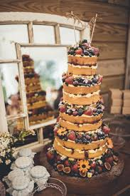 Homemade Victoria Sponge Naked Wedding Cake