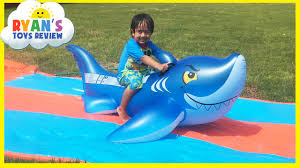 Inflatable Tubes For Toddlers by Water Slide For Kids With Giant Shark H2o Go Inflatable Toys