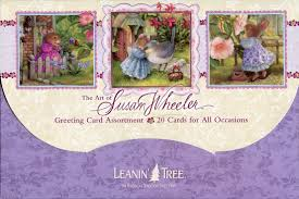 Leanin Tree Christmas Cards by Amazon Com 1 X The Art Of Susan Wheeler Cute Greeted Card
