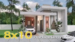 104 Home Designes Best Small House Designs 8x10 Meter 26x33 Feet Pro Decor Z