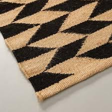 teppich beige schwarz naturfaser 60x110cm