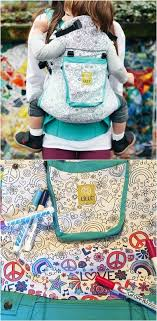 LILLEBABYs New Color Me Carrier Is Like Top Rated Baby Gear Meets The Adult Coloring Book