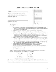 99 Bu Chem Exam 2016 AS030205 Introductory Organic Istry I