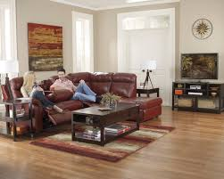 Grey Leather Sectional Living Room Ideas by Small Three Pieces Maroon Leather Sectional Sofa With Reclining