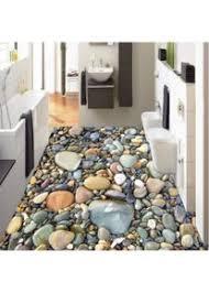 mazhant 3d stereo stein kiesel boden tapete badezimmer