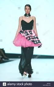 zagreb croatia april 1 2017 fashion model wearing clothes