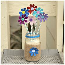 Recycled Egg Carton Flower Arrangement Craft Materials