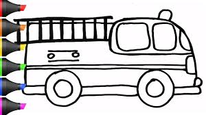 Drawing A Fire Truck | Coloring Pages | BoDraw