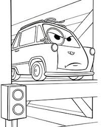 Disney Cars Holly Shiftwell Mater Coloring Pages