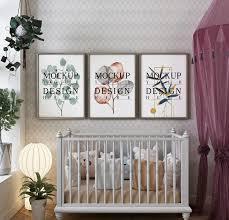 fotorahmen im modernen klassischen babyzimmer mit