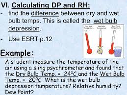 aim what is relative humidity do now answer the following in