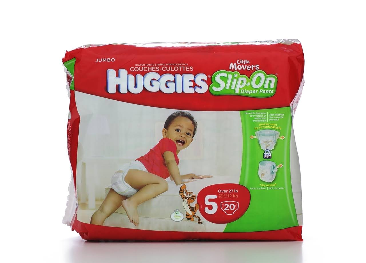 Huggies Little Movers Slip-On Diapers - Size 5, 20ct