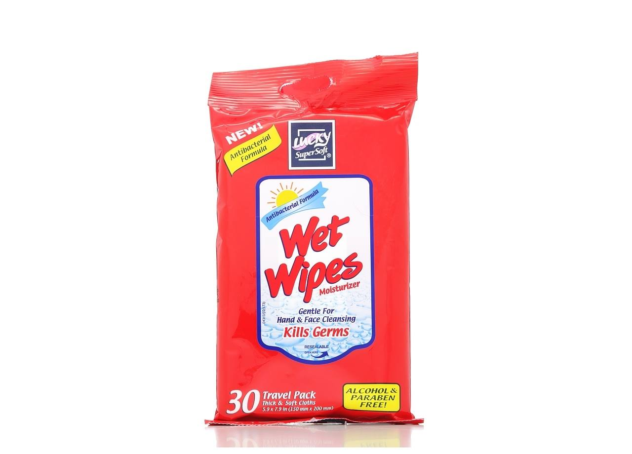 Lucky Supersoft Wet Wipes - 30ct