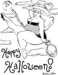 Hello Kitty Happy Halloween Coloring Pages halloween coloring pages difficult vladimirnews me