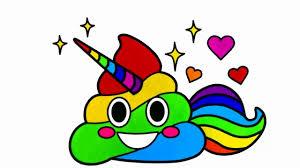 Poop Unicorn Emoji Coloring Pages