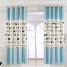 Baby Blue Animal Print Polyester Insulated Short Bay Window
