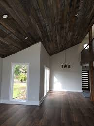 100 Wood Cielings Plank Ceiling Slotted Front Door And COREtec Plus