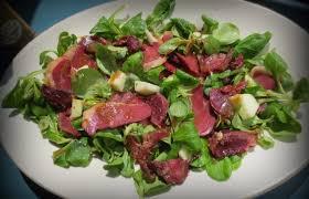 cuisiner les gesiers salade de magret et gésiers de canard à la vinaigrette d erable