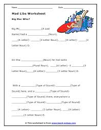 Halloween Mad Libs Esl by 43 Best Mad Libs Images On Pinterest Diy And Education