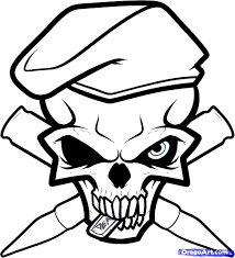 How To Draw An Army Skull Tattoo Step 9