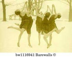Modern Dance Art Print Poster