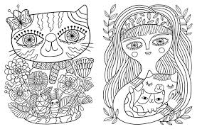 Puppy And Kitten Coloring Pages 5 With Kittens