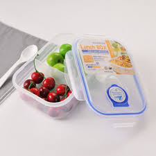 Split Open Lunch Box Microwave Oven Lunchbox Refrigerator Sealed Plastic Fast Food Keep Fresh