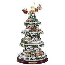 Thomas Kinkade Christmas Tree Cottage by The Thomas Kinkade Animated Christmas Tree Hammacher Schlemmer
