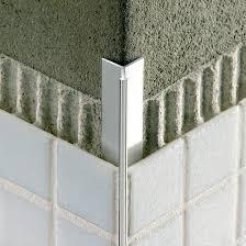 aluminum edge trim for tiles outside corner invisible