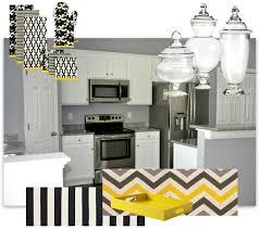 Modern Contemporary Kitchen Decor Mood Board Black White Yellow