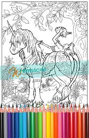 Fairy And Unicorn Coloring Pages Princess By WhimsicalPublishing