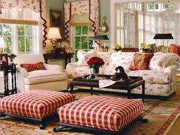 French Country Cottage Decorating Ideas by Furniture Floral French Country Sofa With Chic Ottoman And
