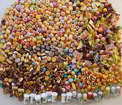 Color Littlest Pet Shop LPS LOT 3 Custom Accessories Starbucks Bows Food