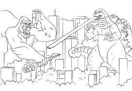 Click To See Printable Version Of King Kong Vs Godzilla Coloring Page
