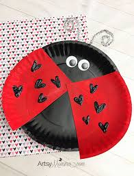 Lovable Paper Plate Ladybug For Valentines Day