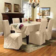 Lovely Chair Back Covers For Dining Room Chairs In A Modern House Captivating