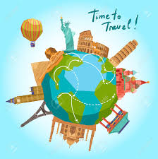 Traveling The World Clipart
