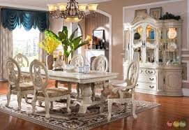 Modern Dining Room Sets With China Cabinet Dinning Cherry Table Elegant Furniture