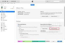 How to Restore your iPhone or iPad Backup from iTunes