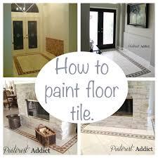 painting floor tile addict