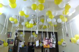 Birthday Room Decoration Ideas With Balloons And Hanging Photos